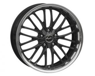 Disky BREYTON Race CS 8,5 x 19 a 9,5 x 19 Black paint with Stainless Steel lip