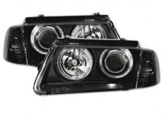 Design black svetlomety angel eyes VW PASSAT B5